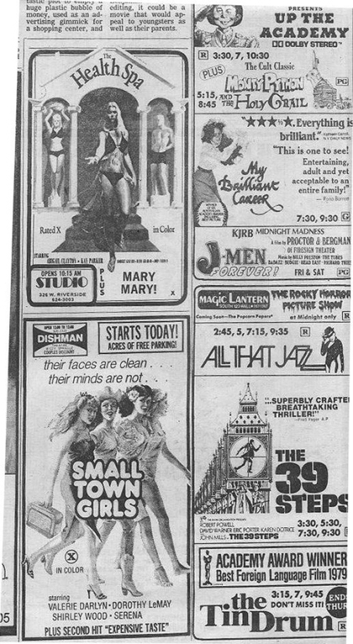 1980s Movie Advertisement Newspaper Clipping