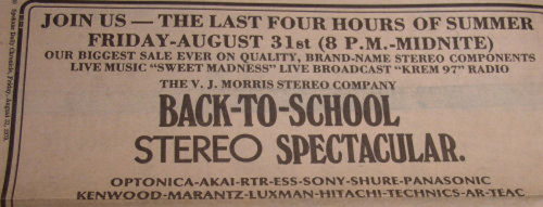 VJ Morris Stereo Back To School