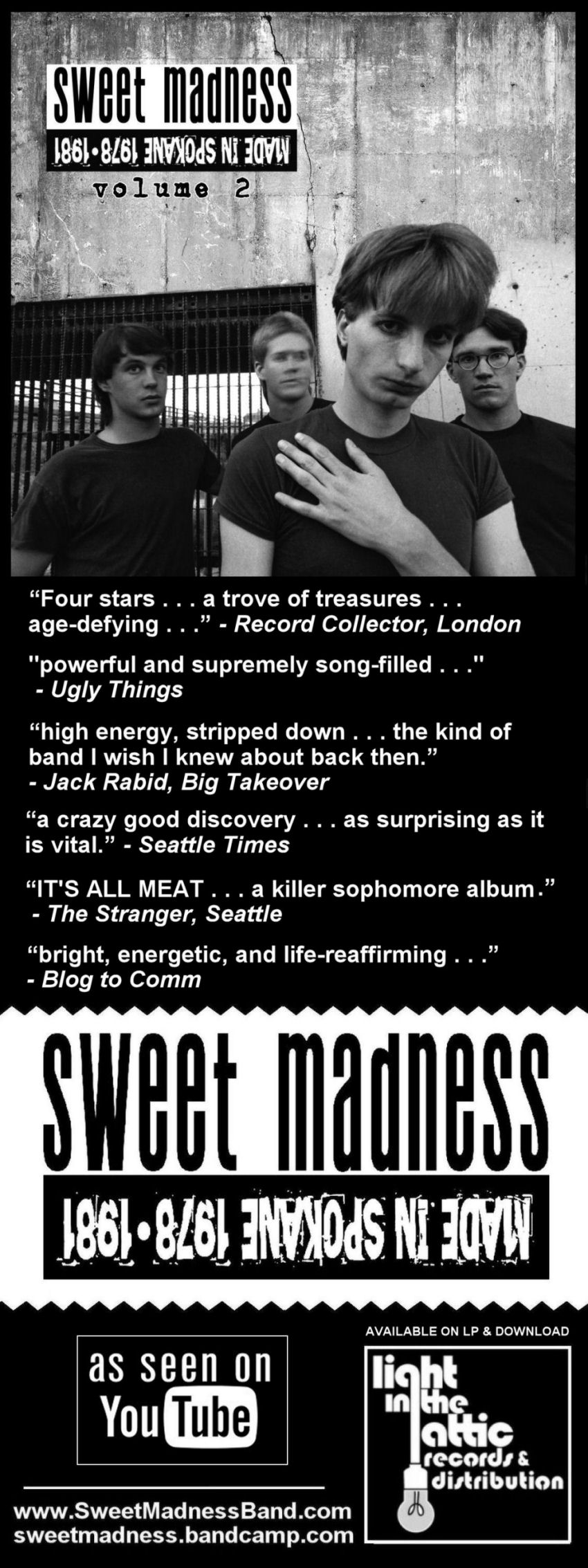 Sweet Madness review, post-punk, new wave, power pop
