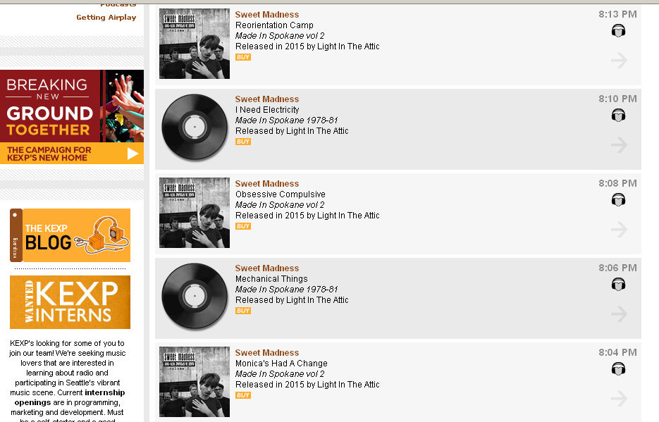 Sweet Madness, KEXP, Brian Foss, Northwest, new wave