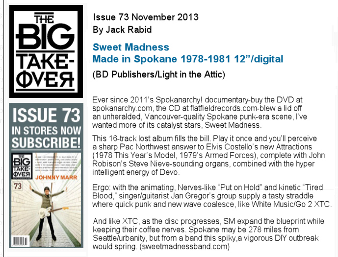 Sweet Madness - Made in Spokane 1979-1981