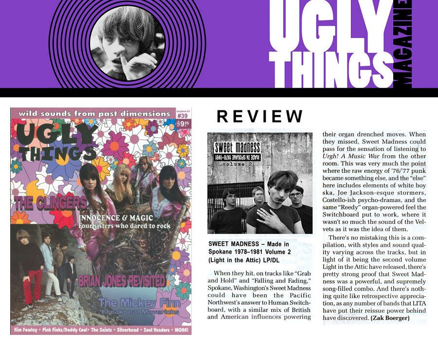 Sweet Madness, Volume 2, Ugly Things Magazine